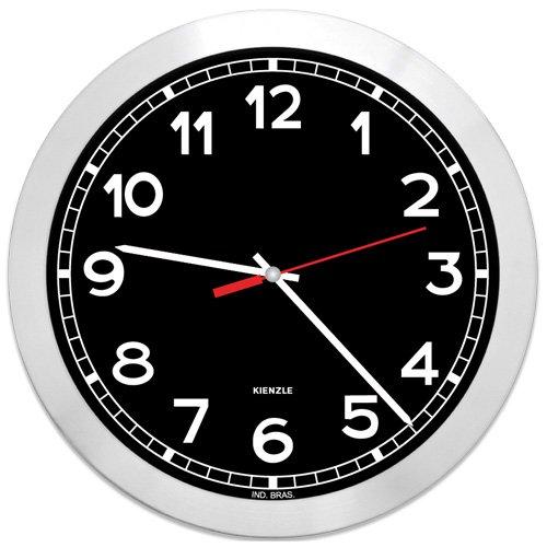 Relógio Parede Aluminio Futura NY Preto